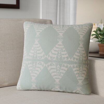 Roi Graphic Cotton Throw Pillow Color: Dew