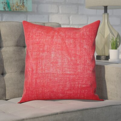Portsmouth Solid Burlap Throw Pillow Color: Paprika, Size: 20 H x  20 W