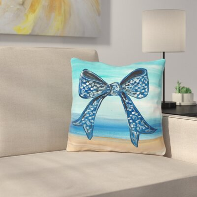 Britten Beach Bow Throw Pillow Size: 16 H x 16 W x 3 D