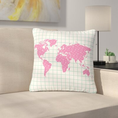 Famenxt Grid Map Digital Outdoor Throw Pillow Size: 16 H x 16 W x 5 D
