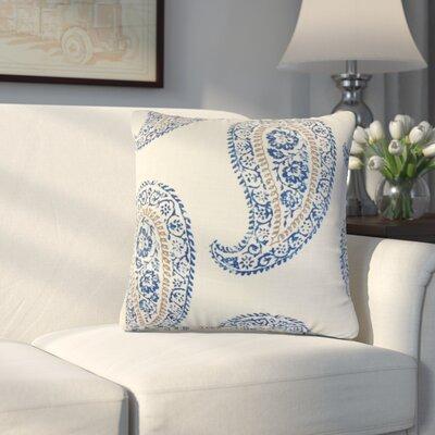 Oskar Geometric Linen Throw Pillow Color: Indigo