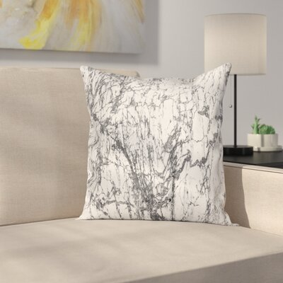 Artsy Surreal Abstract Square Pillow Cover Size: 16 x 16