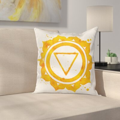 Chakra Icon Square Pillow Cover Size: 20 x 20