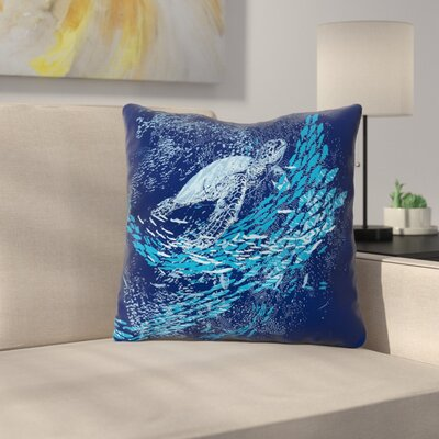 The Turtle Way by Frederic Levy-Hadida Throw Pillow Size: 18 H x 18 W x 3 D