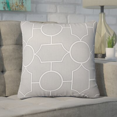 Syrianus Geometric Cotton Throw Pillow Color: Dove