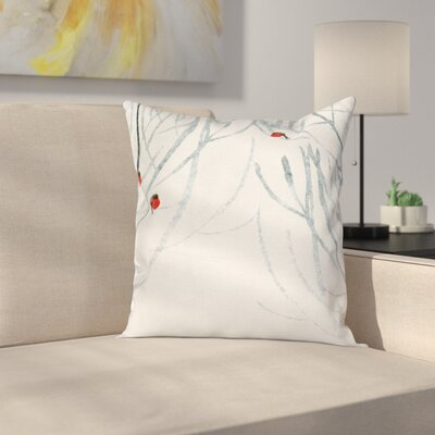 Red Birds Pillow Cover Size: 16 x 16