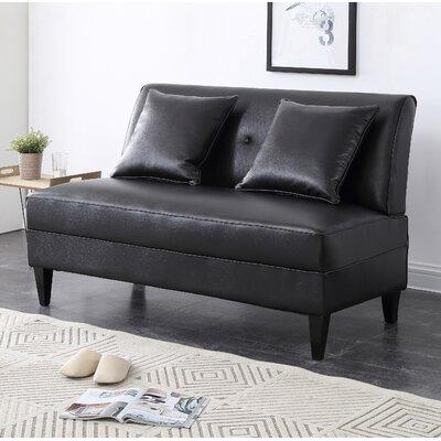 Dontae Loveseat Upholstery: Black