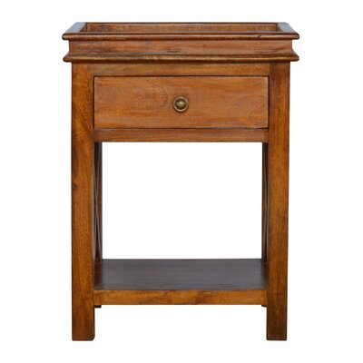 Crichton Criss-Cross End Table with Storage