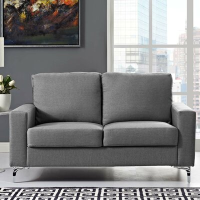Hollander Standard Loveseat Upholstery: Gray