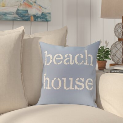 Cedarville Beach House Throw Pillow Size: 20 H x 20 W, Color: Blue