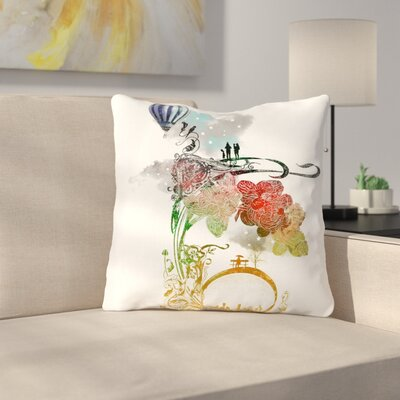 A Little Paradise by Frederic Levy-Hadida Throw Pillow Size: 16 H x 16 W x 3 D