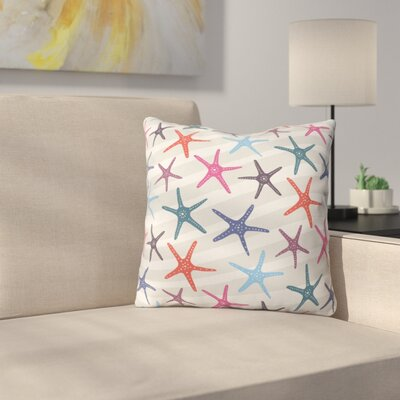 Star Fish Outdoor Throw Pillow Size: 18 H x 18 W x 5 D
