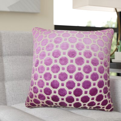 Richart Geometric Cotton Throw Pillow Color: Purple