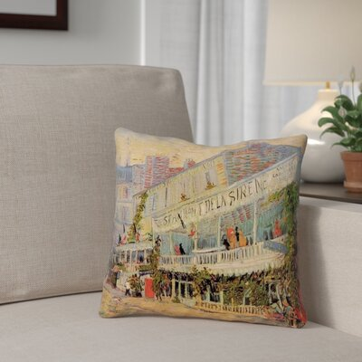 Bristol Woods Restaurant de la Sirene Linen Throw Pillow Size: 18 x 18