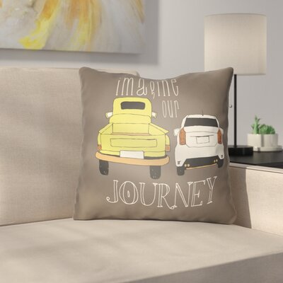 Cherlyn Imagine Our Journey Throw Pillow Size: 18 H x 18 W x 4 D, Color: Brown