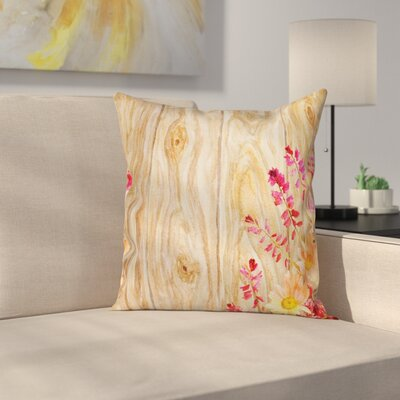 Flowers Spring Florals Daisies Square Pillow Cover Size: 24 x 24