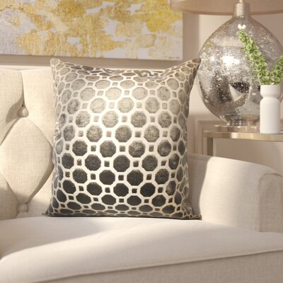 Carlie Velvet Throw Pillow Color: Terrain, Size: 18 H x 18 W