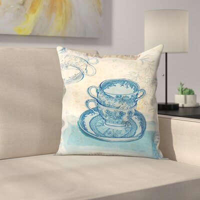 Paula Mills Willow Pattern Throw Pillow Size: 18 x 18