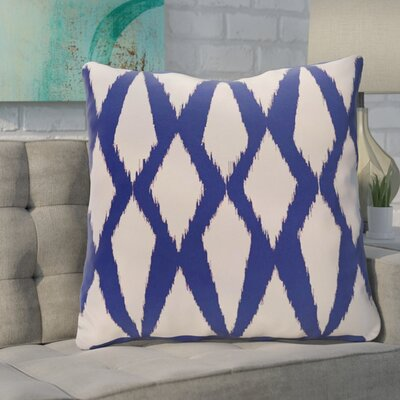 Blasingame Geometric Decorative Outdoor Pillow Color: Dazzling Blue, Size: 18 H x 18 W x 1 D