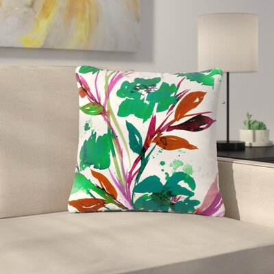 Ebi Emporium Pocket Full of Posies Outdoor Throw Pillow Size: 18 H x 18 W x 5 D, Color: Green
