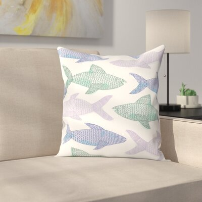 Jetty Printables Tribal Fish Pastel Throw Pillow Size: 18 x 18
