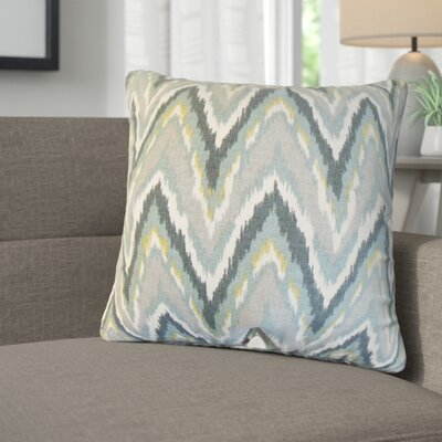 Saniyah Zigzag Cotton Throw Pillow Color: Mineral