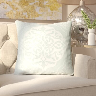Dylan Throw Pillow Size: 22 H x 22 W x 4 D, Color: Mint/Pale Blue