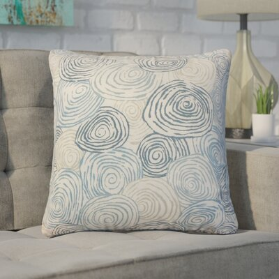 Zeus Graphic Linen Throw Pillow Color: Blue