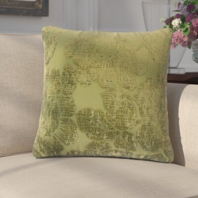 Fausta Floral Throw Pillow Color: Jade