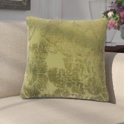 Fausta Floral Throw Pillow Color: Jade