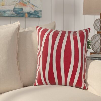 River Ridge Wavy Throw Pillow Size: 20 H x 20 W, Color: Red