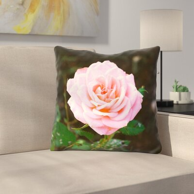 Rose 100% Cotton Throw Pillow Size: 18 x 18
