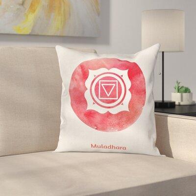 Chakra Symbol Square Pillow Cover Size: 24 x 24