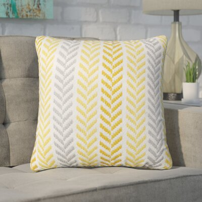 Chevron 100% Cotton Throw Pillow Color: Yellow