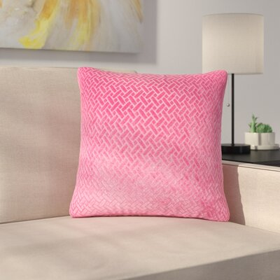 Stradford Solid Throw Pillow Color: Berry