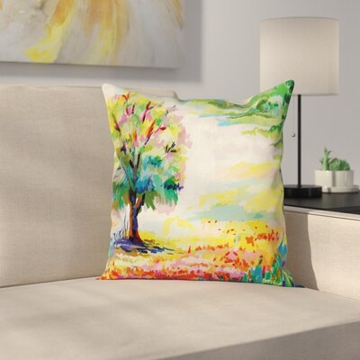Painting Pillow Cover Size: 18 x 18