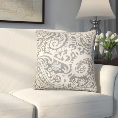Hudepohl Paisley Throw Pillow Color: Ash
