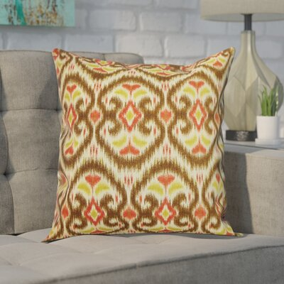 Gambino Ikat Cotton Throw Pillow Color: Harvest, Size: 18