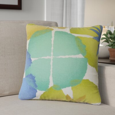 Calena Floral Down Filled 100% Cotton Throw Pillow Size: 22 x 22