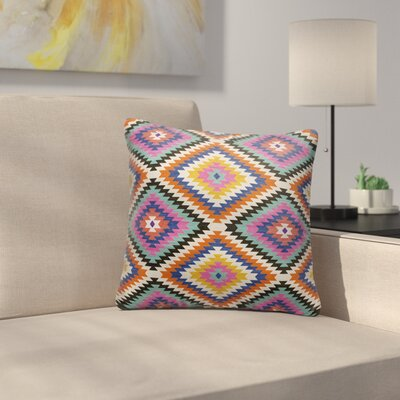 Sulien Indoor/Outdoor Throw Pillow Size: 20 H x 20W x 5 D, Color: Teal/ Orange/ Grey/ Blue/ Pink