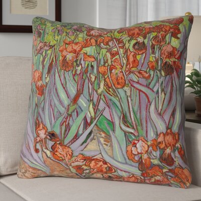 Morley Irises Euro Pillow Color: Orange