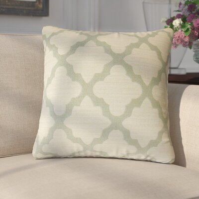 Margert Geometric Throw Pillow Color: Aquamarine