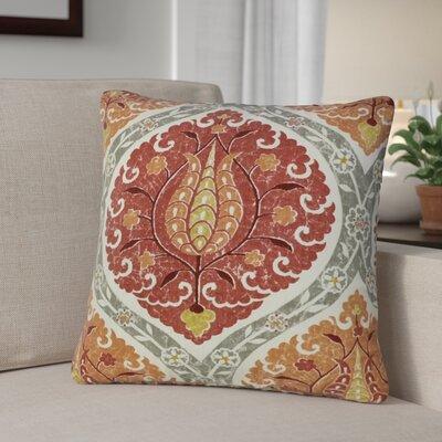 Desroches Ikat Linen Throw Pillow Color: Orange