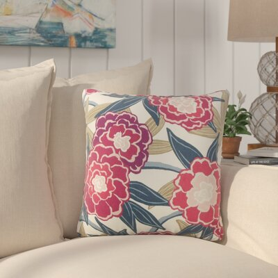 Akeeta Floral Cotton Throw Pillow Color: Berry