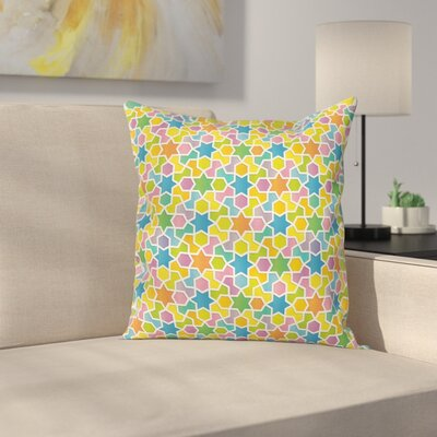 Star and Fractal Shape Cushion Pillow Cover Size: 16 x 16