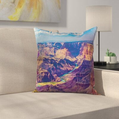 American Grand Canyon Sunrise Square Pillow Cover Size: 18