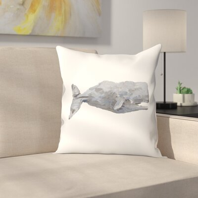 Jetty Printables Sperm Whale Art Throw Pillow Size: 18 x 18