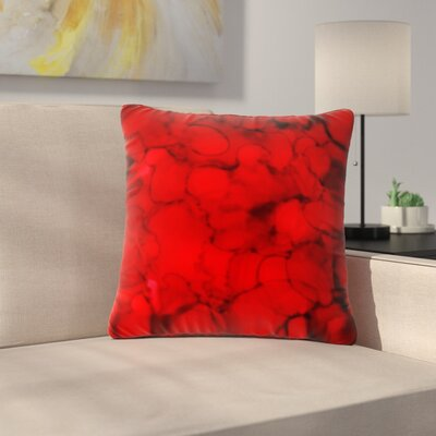 Claire Day Outdoor Throw Pillow Size: 18 H x 18 W x 5 D, Color: Red