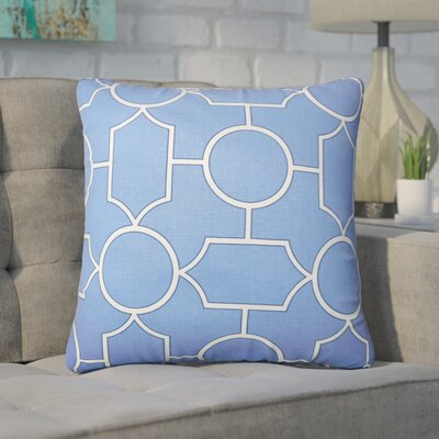 Syrianus Geometric Cotton Throw Pillow Color: Chambray