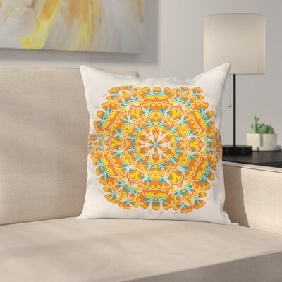 Elegant Exotic Flower Floral Square Pillow Cover Size: 16 x 16